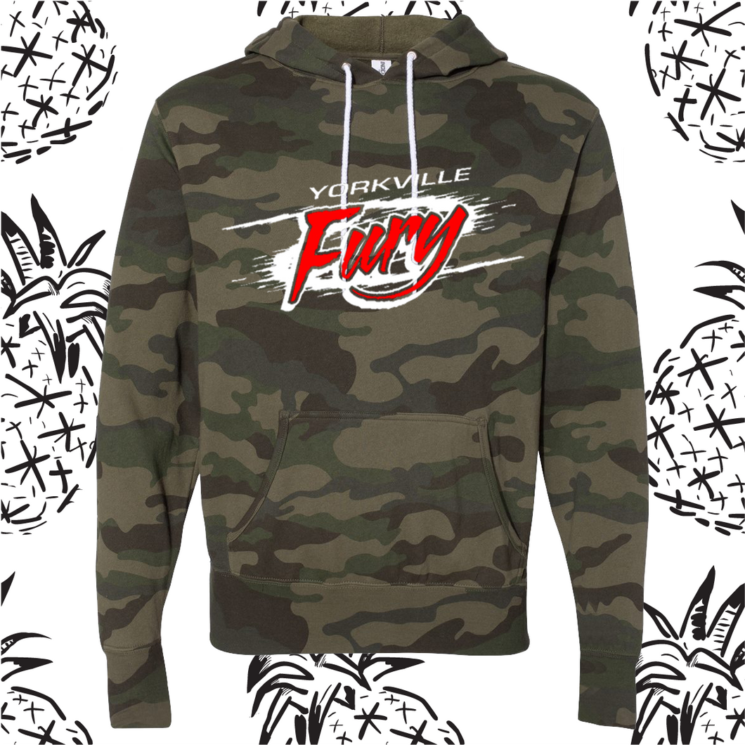 Yorkville Fury Logo Camo Hooded Sweatshirt