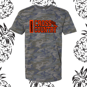 Sandwich Cross Country Side Text Camo Tee
