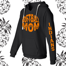 Load image into Gallery viewer, Sandwich Indians Distressed Softball/Baseball Mom Women's Fit Hooded Sweatshirt