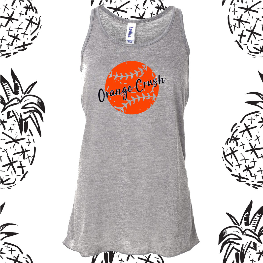Orange Crush Distressed Softball Tank