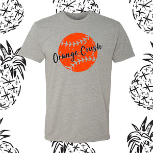 Orange Crush Distressed Softball Tee