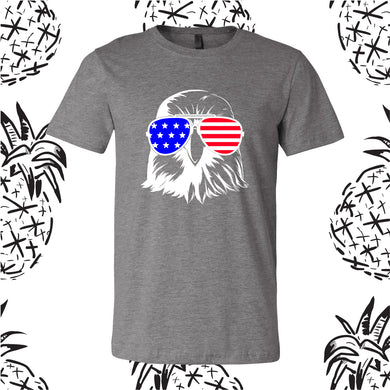 Patriotic Eagle 4th of July Tee