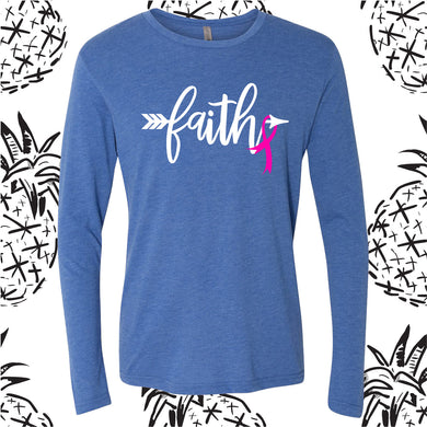 Breast Cancer Faith Long Sleeve Tee