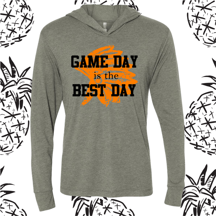 Game Day is the Best Day Long Sleeve Hooded Tee