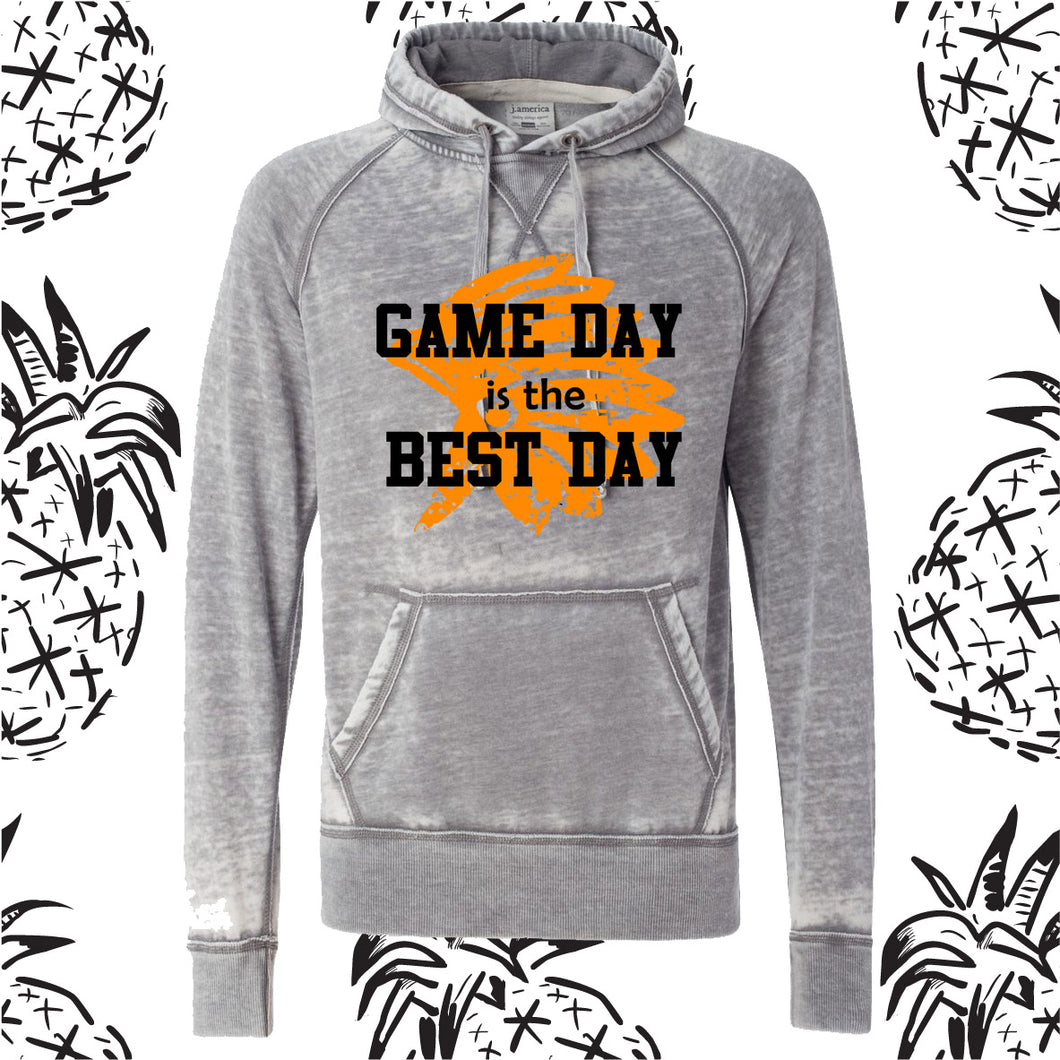 Game Day is The Best Day Acid Wash Hooded Sweatshirt