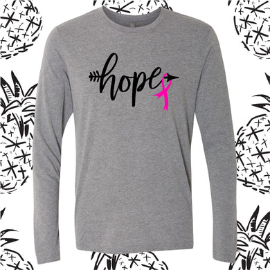 Breast Cancer Hope Long Sleeve Tee