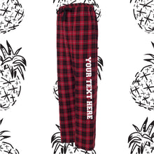 Load image into Gallery viewer, Red & Black Pajama Pants