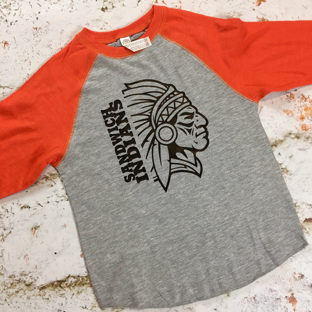 Sandwich Indians Youth Raglan Tee