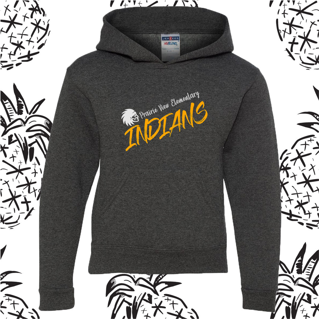 Prairie View Elementary Indian Script Hooded Sweatshirt