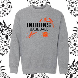 Sandwich Indians Baseball Stitch Crewneck Sweatshirt