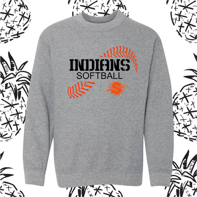 Sandwich Indians Softball Stitch Crewneck Sweatshirt