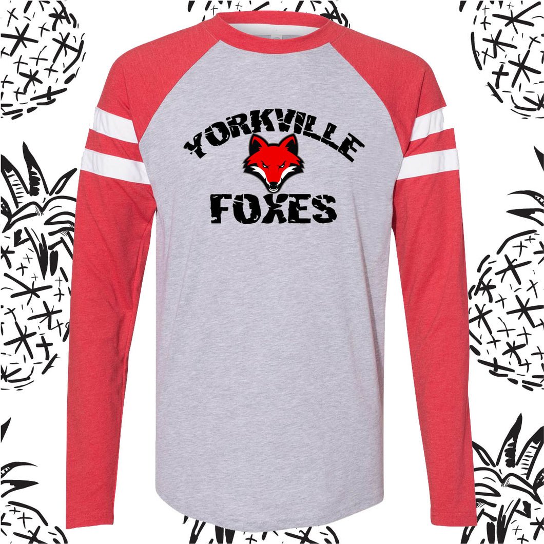 Yorkville Foxes Long Sleeve Raglan Tee