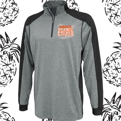 Orange Crush Carbon Qtr Zip Pullover