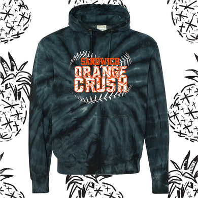 Orange Crush Logo Tie Dye Hooded Sweatshirt