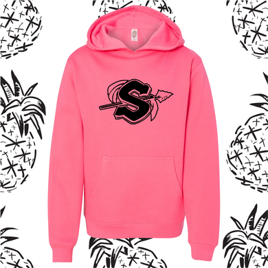Sandwich Indians Neon Pink Logo Hooded Sweatshirt
