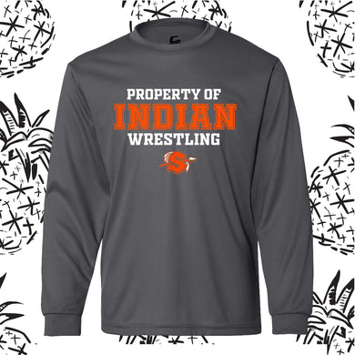 Property of Indian Wrestling Performance Long Sleeve Tee