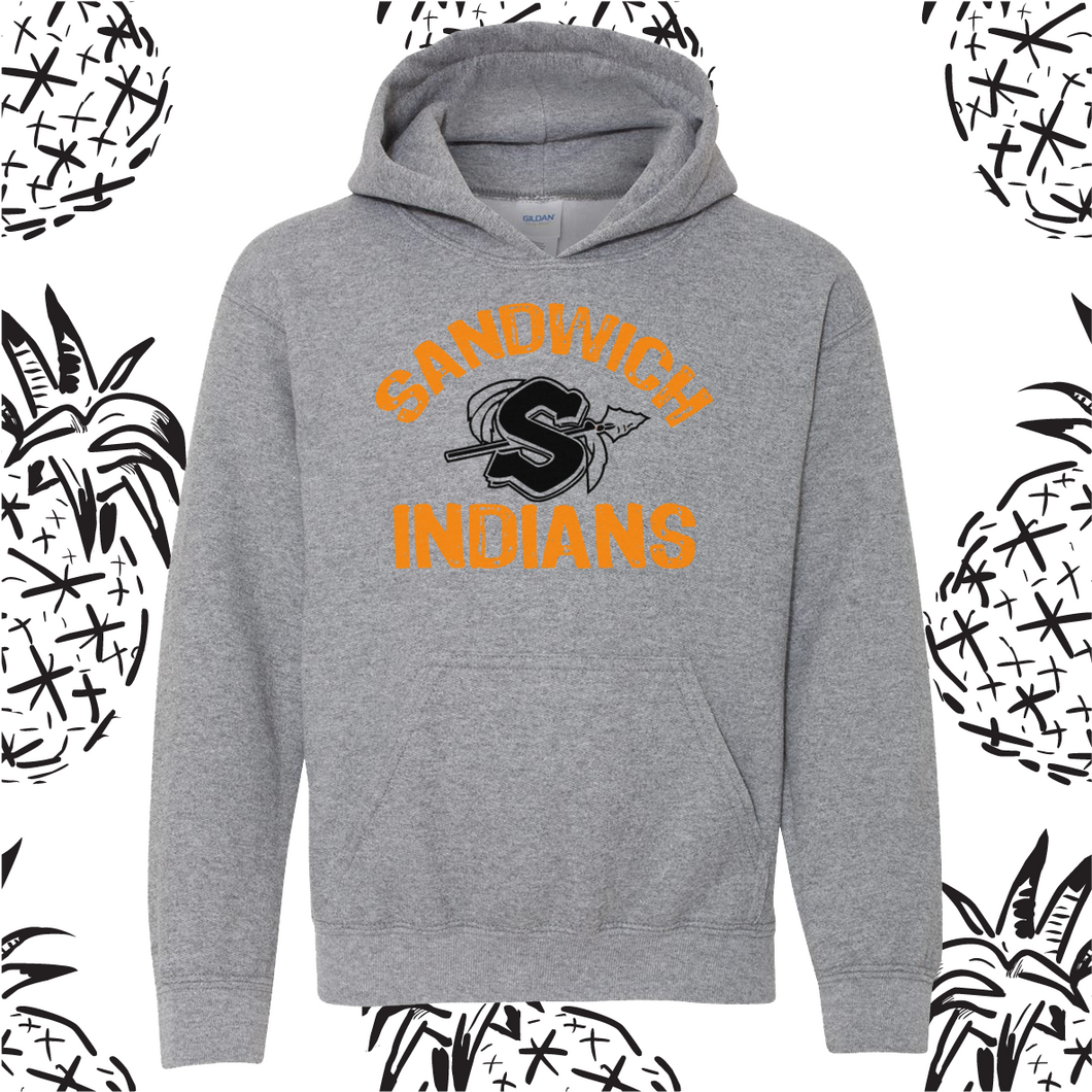 Sandwich Indians Poly/Cotton Hooded Sweatshirt