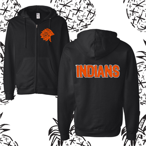 Sandwich Indians Zip Up Hooded Sweatshirt