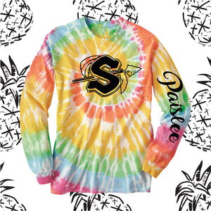 Sandwich Indians Logo Tie Dyed Long Sleeve Tee