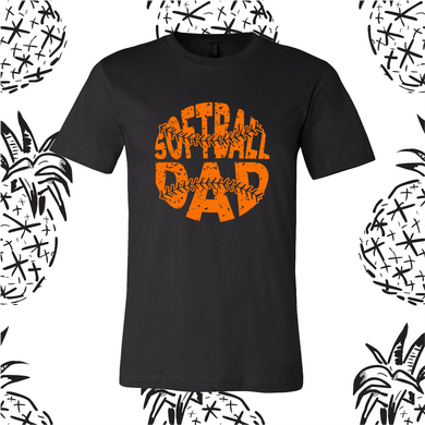 Distressed Softball Dad Tee