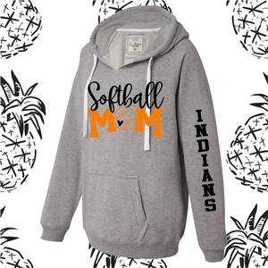 Sandwich Indians Softball/Baseball Mom Women's Fit Hooded Sweatshirt