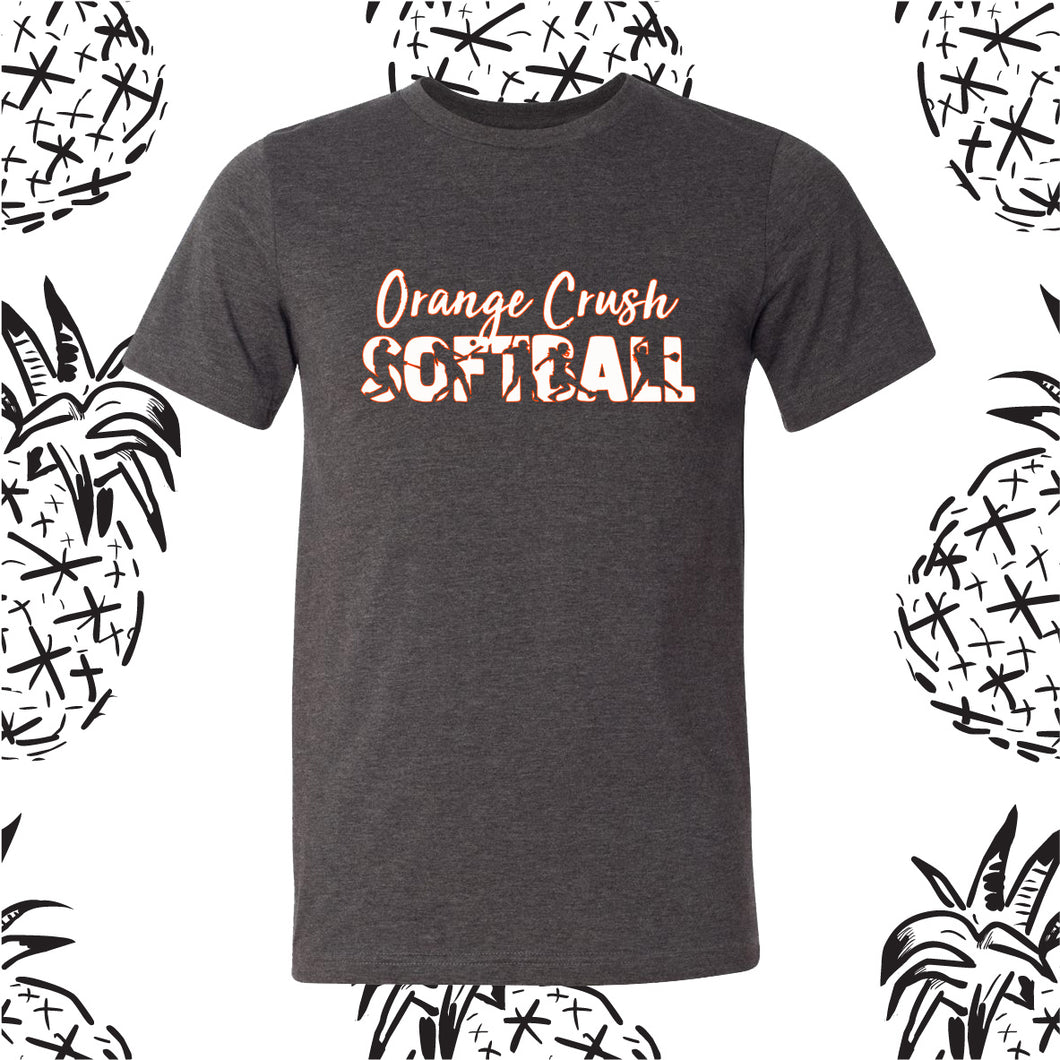 Orange Crush Softball Player Tee