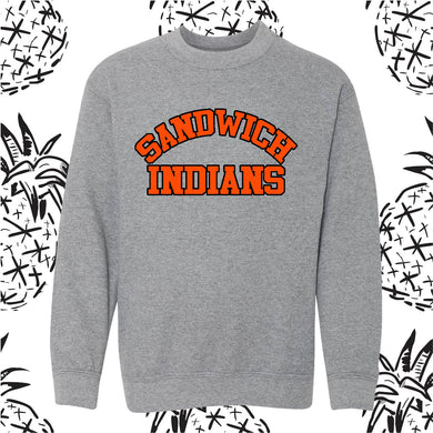 LIMITED TIME ONLY! Retro Sandwich Indians Crew Neck Sweatshirt