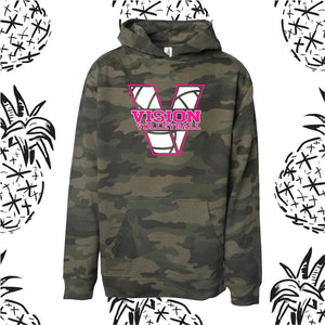 Vision Volleyball Camo Hooded Sweatshirt