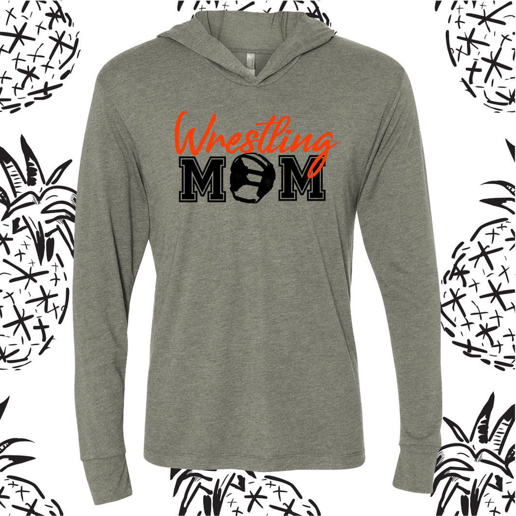 Wrestling Mom Hooded Long Sleeve Tee