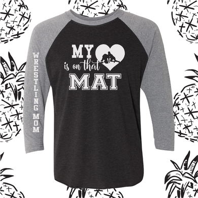 My Heart is On That Mat Unisex Fit Raglan Tee