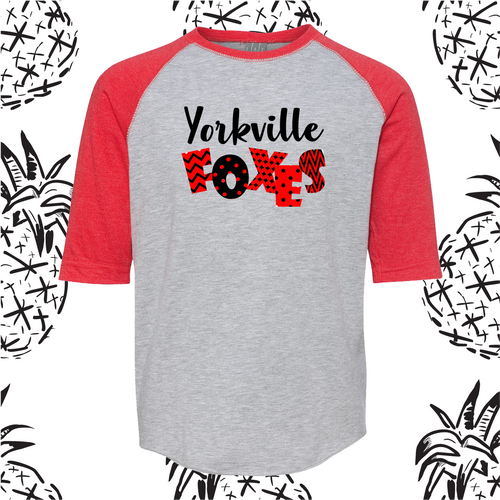 Yorkville Foxes Kiddo Baseball Tee
