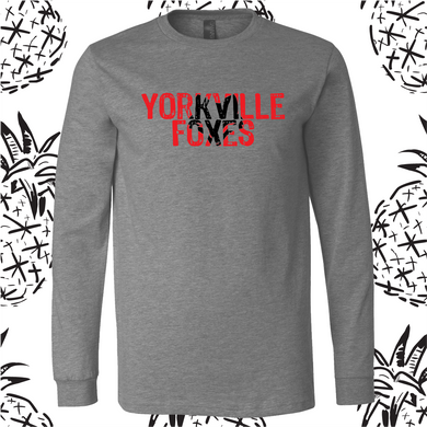 Yorkville Foxes Knockout Long Sleeve Tee