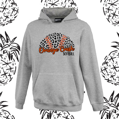 Orange Crush Unisex Leopard Hooded Sweatshirt