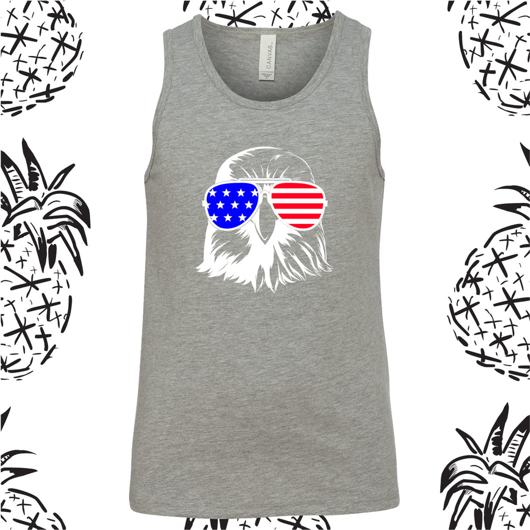 Youth Patriotic Eagle 4th of July Tank