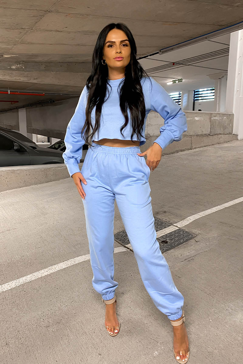 Blue Loungewear Jogger Set