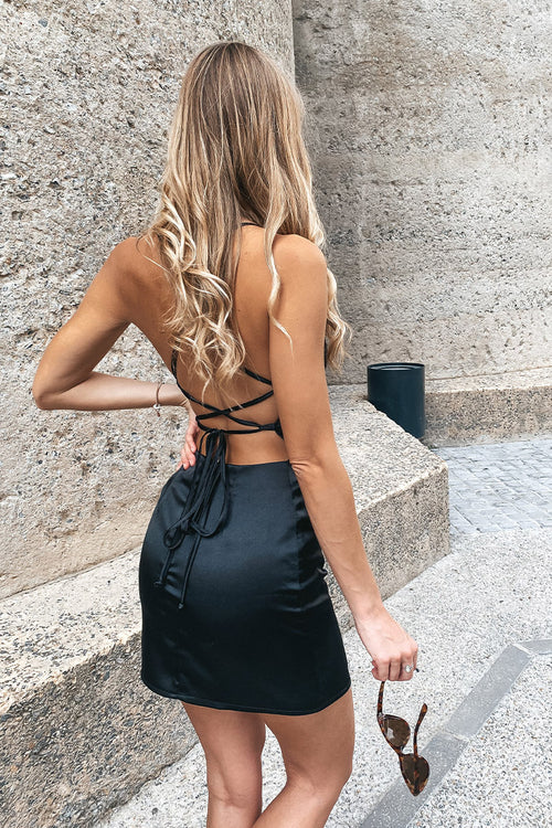 The LA Black Satin Tie Back Dress