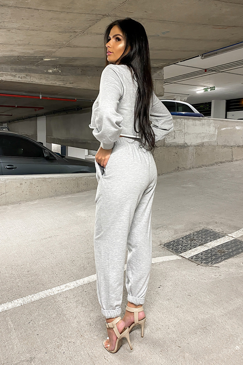 Grey Lounge Jogger Set