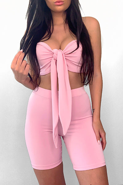 Pink Bombshell Knot Top
