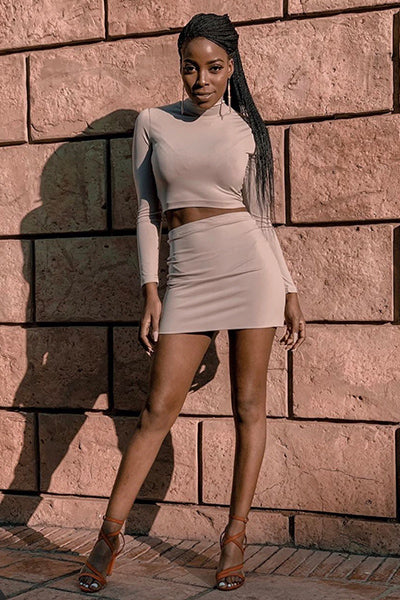 Stone Basic Mini Skirt