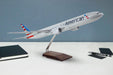 American Airlines Boeing 777-300ER Desktop Model 1/100 Scale on desktop