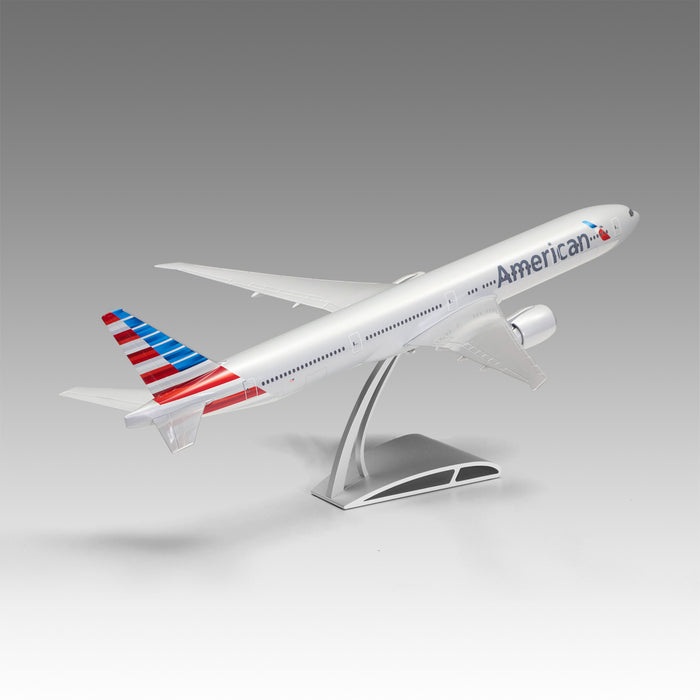 American Airlines 777-300ER Aircraft Model in 1/100 scale with Airfoil base