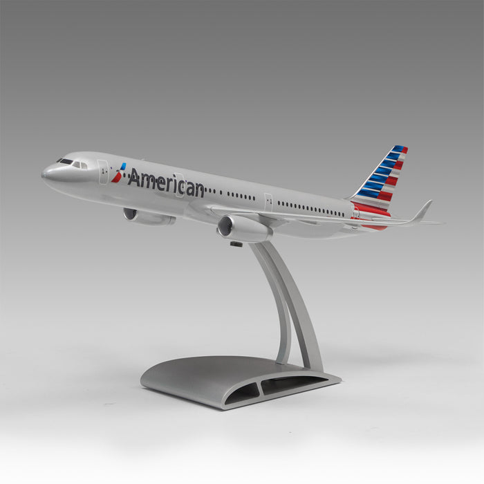 American Airlines A321 Aircraft model in 1/100 scale with Airfoil base