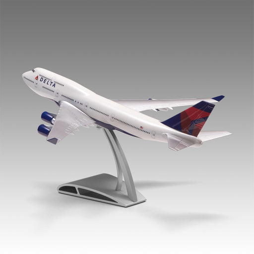 Delta 747-400 Aircraft Model in 1/144 scale with Airfoil base