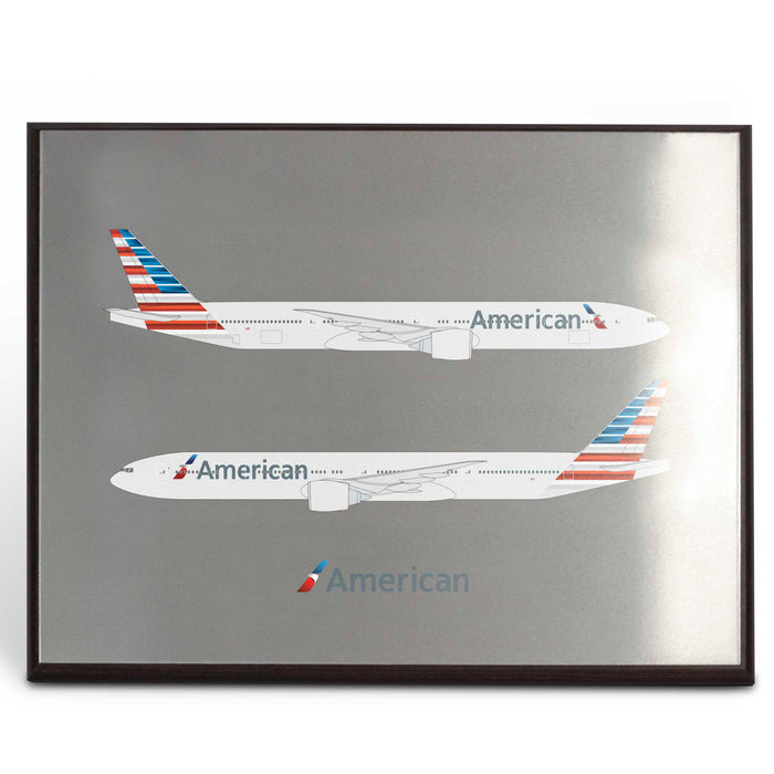 American Airlines 777-300ER Plaque