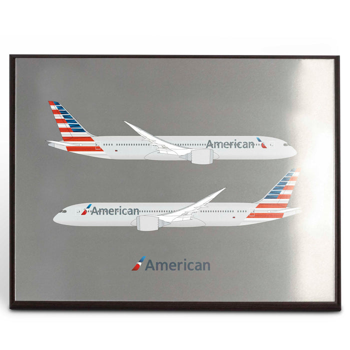 American Airlines 787-9 Plaque