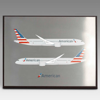American Airlines B-787-9 Desktop Model 1/100 Scale