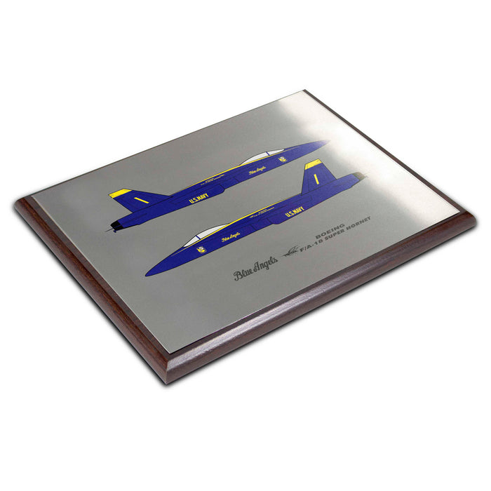 Blue Angels F-18 Plaque