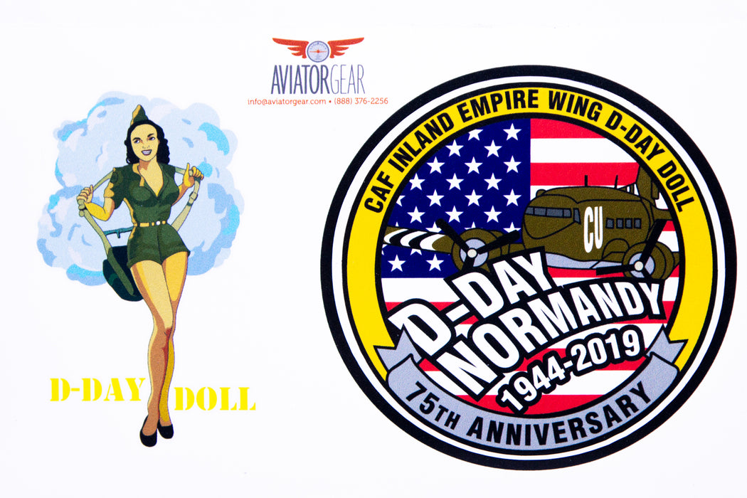 CAF D-Day Doll Sticker