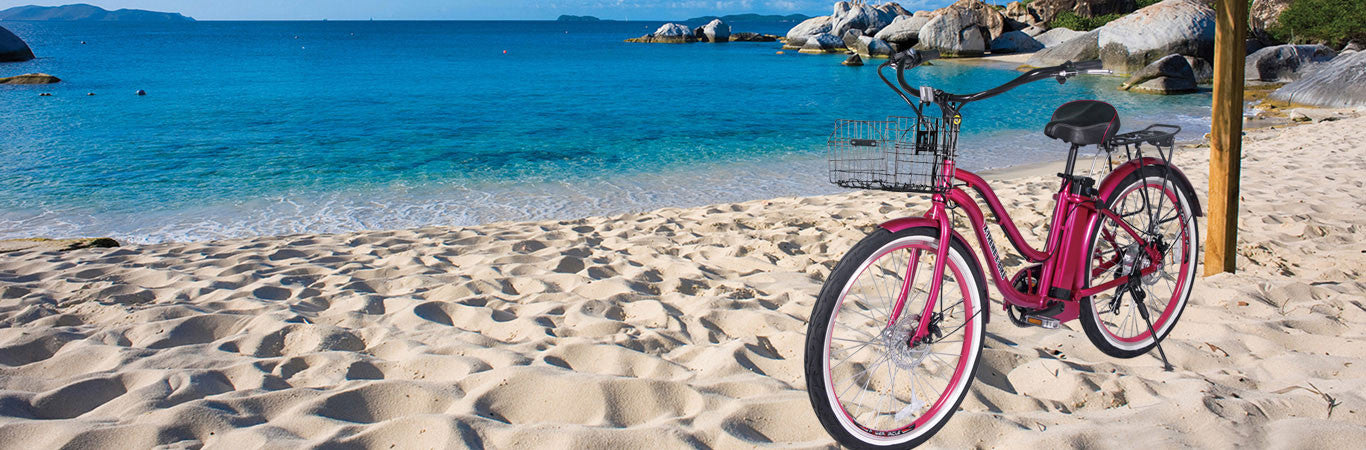 Xtreme malibu beach cruiser womens electric bicycle