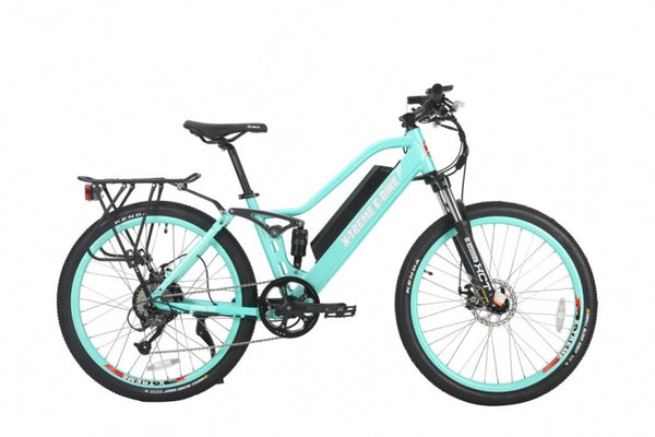 xtreme sedona 48 volt electric bike mint green